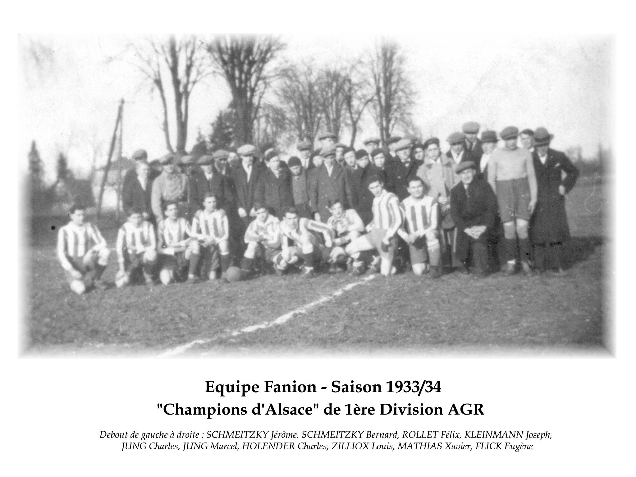 Annees 1933-34