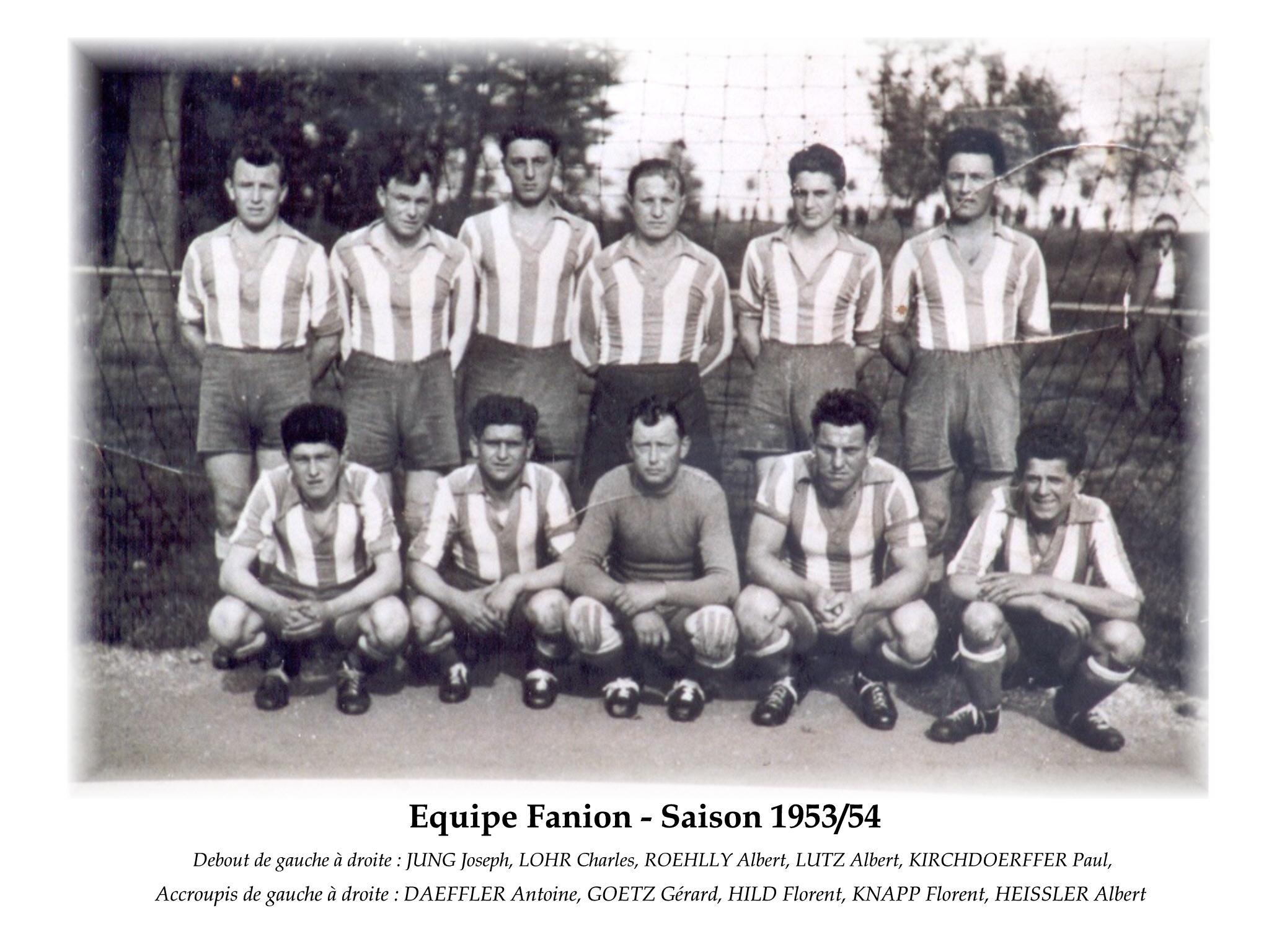 Annees 1953-54