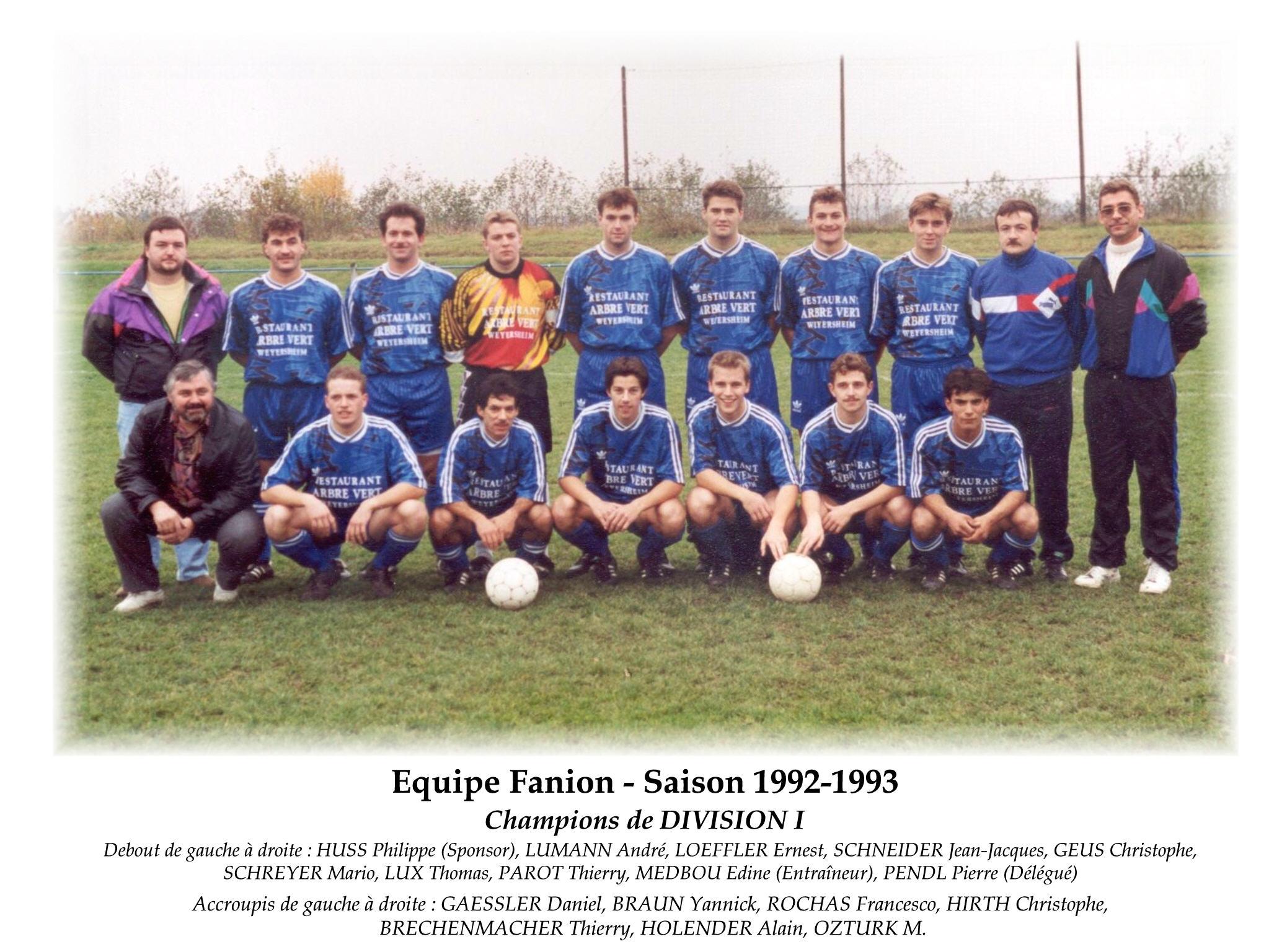 Annees 1992-93