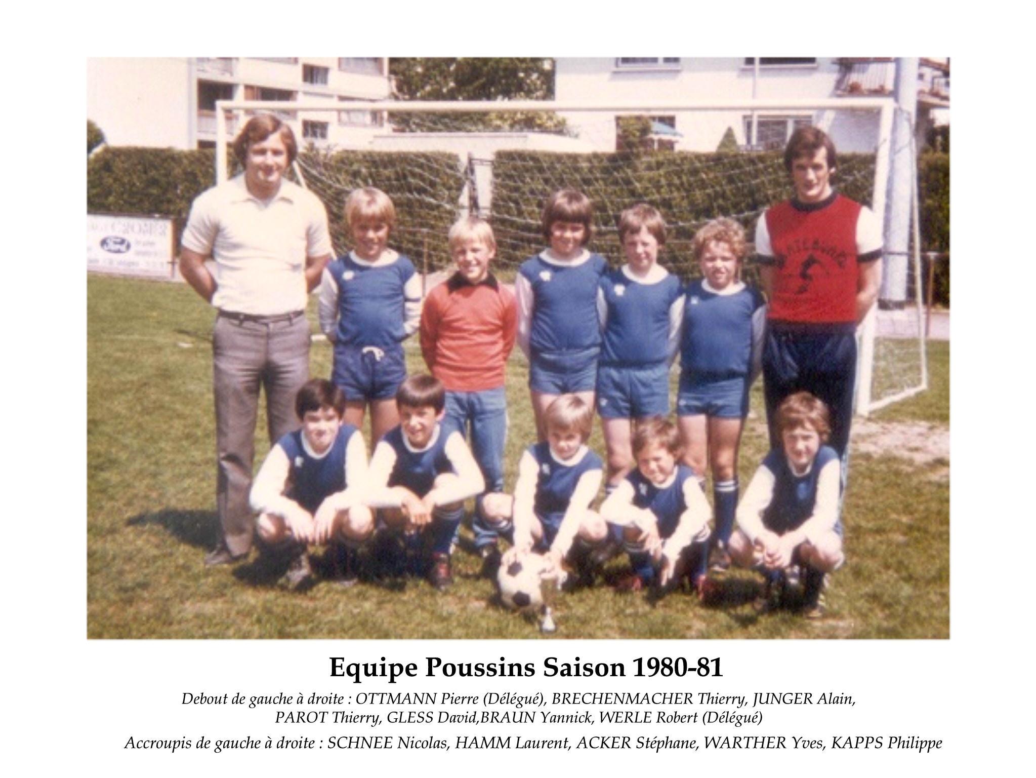 Poussins 1980-81