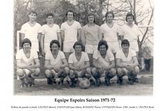 Annees 1971-72 Espoirs