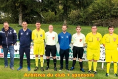 Arbitres du club et sponsors 2018