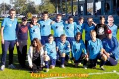 Equipe SSW U13 2 saison 2017-2018